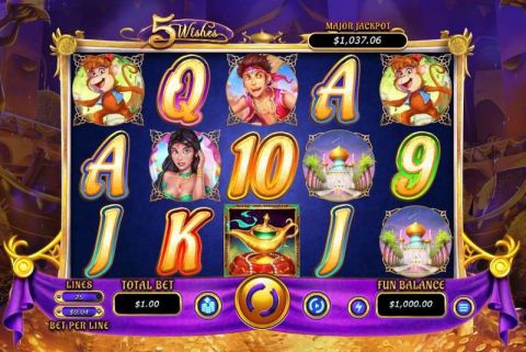5 Wishes RTG Progressive Jackpot Slot