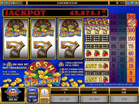 Cash Splash Microgaming Progressive Jackpot Slot