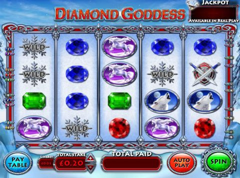 Diamond Goddess Inspired Progressive Jackpot Slot