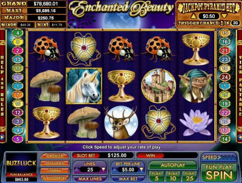 Enchanted Beauty NuWorks Progressive Jackpot Slot