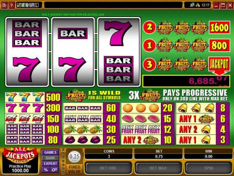 Fruit Fiesta Microgaming Progressive Jackpot Slot