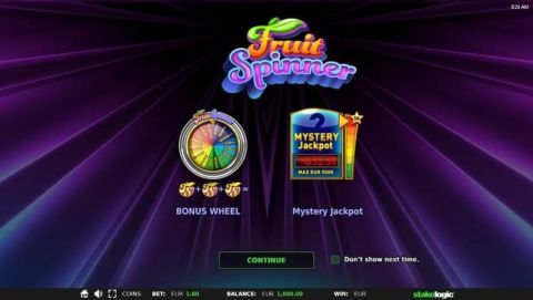Fruit Spinner Progressive Jackpot Slot