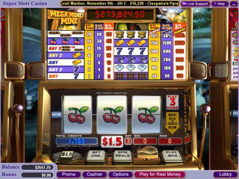 Mega Money Mine WGS Technology Progressive Jackpot Slot