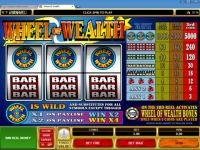 Wheel of Wealth Progressive Slot