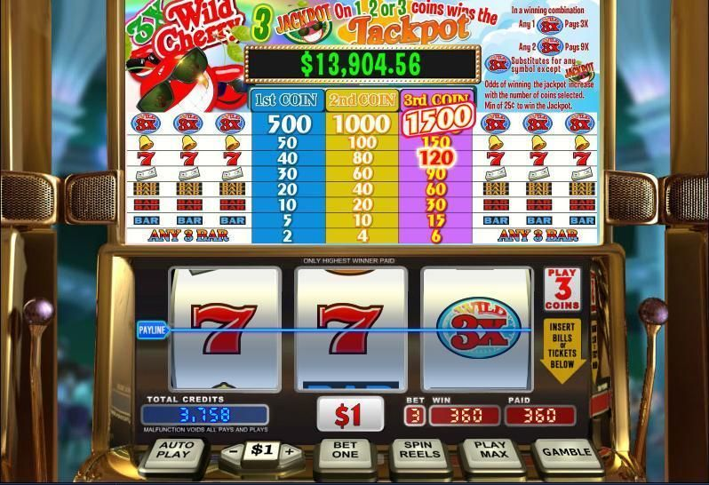 3X Wild Cherry WGS Technology Progressive Jackpot Slot