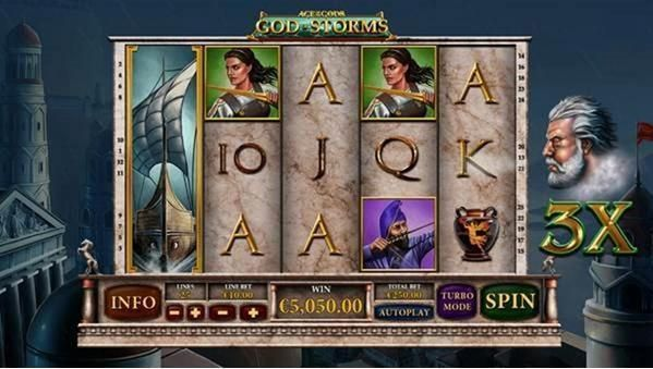 Age of the Gods - God of Storms PlayTech Progressive Jackpot Slot