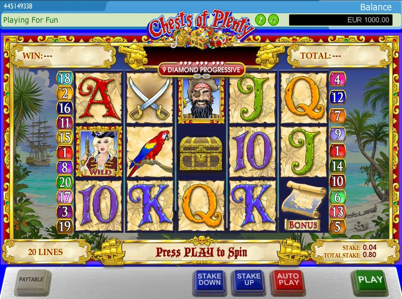 Chests of Plenty PlayTech Progressive Jackpot Slot