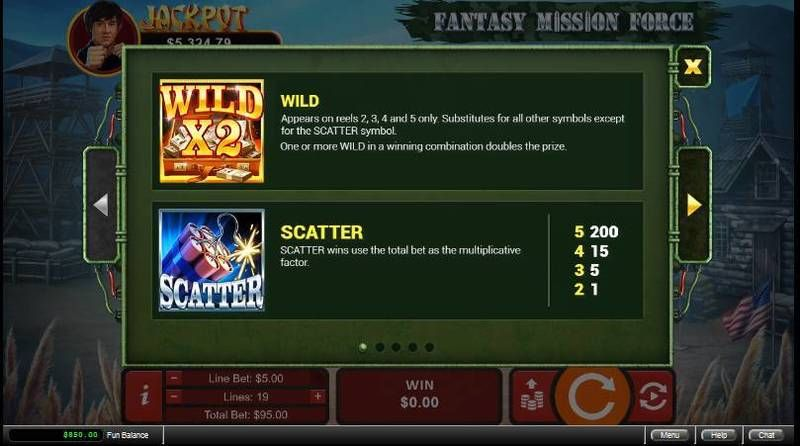 Fantasy Mission Force RTG Progressive Jackpot Slot