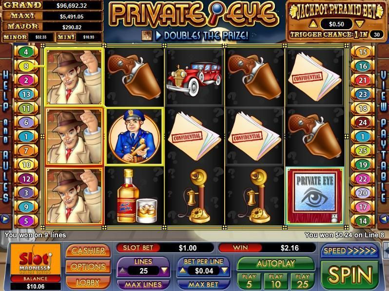 Private Eye NuWorks Progressive Jackpot Slot