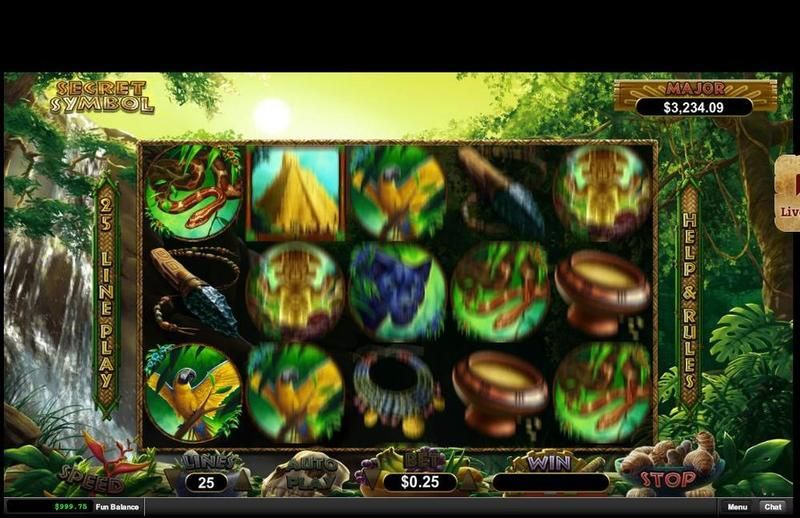 Secret Symbol RTG Progressive Jackpot Slot