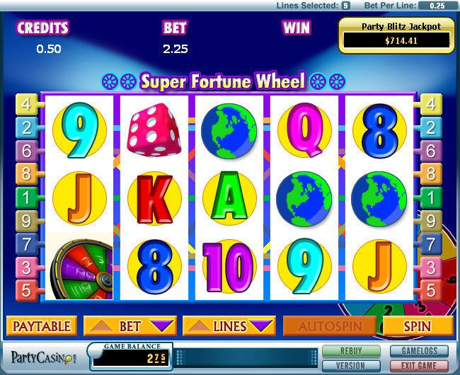 Super Fortune Wheel bwin.party Progressive Jackpot Slot