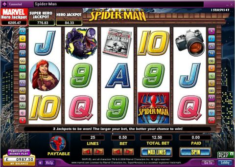 The Amazing Spider-Man 888 Progressive Jackpot Slot
