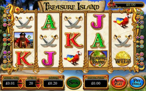 Treasure Island Inspired Progressive Jackpot Slot