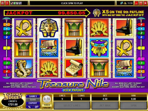 Treasure Nile Microgaming Progressive Jackpot Slot