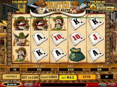 Wanted Dead or Alive PlayTech Progressive Jackpot Slot