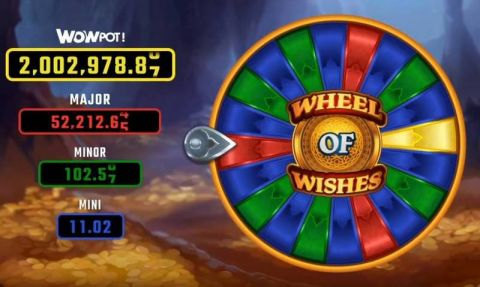 Wheel of Wishes Microgaming Progressive Jackpot Slot