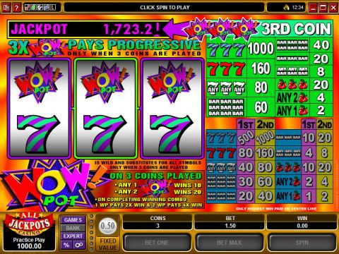Wow Pot Microgaming Progressive Jackpot Slot